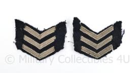 Nederlandse Douane of politie jaren 50 insigne  paar  - 5,5 x 5 cm - origineel