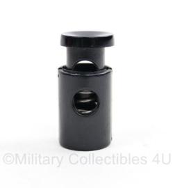 Defensie zwarte Tanka koordstopper - 3 x 1,5 cm - origineel