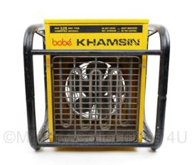 Robuuste werkplaats kachel elektrisch - BOBE KHAMSIN type 1MA31T - 220 V 3000 W - 41 x 39 x 30 cm - licht gebruikt -  origineel