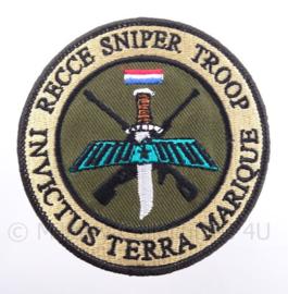 """KM Koninklijke Marine, Korps Mariniers embleem """"Recce Sniper Troop"""" - met klittenband - diameter 9 cm"""