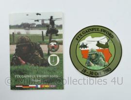 Exercise FTX Gainful Sword 2003 Poland Duits Nederlandse Corps boekje met sticker - origineel