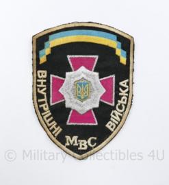 Oekraïens politie embleem MBC Ukraine Ykpaiha MBC - 13 x 9,5 cm - origineel