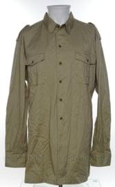 Koninklijke Marine khaki dik overhemd lange mouwen - halsmaat 42 km ECC 1987 - origineel
