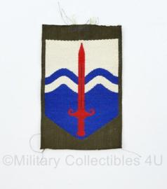 KL eenheid mouw embleem  Nationaal Territoriaal Commando ongevouwen - model tot 2000 - 8 x 5 cm - origineel