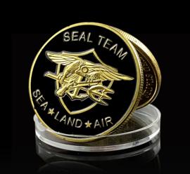 USN US Navy Seal Team coin munt - Sea, Land, Air - 40 mm diameter