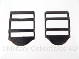WO2 US uitrusting gespen (prijs per paar) - 3 x 4 cm - Origineel