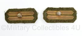 MVO Kraaginsigne paar Adjudant onderofficier vaandrig en Kornet  8,5 x 4 cm - origineel