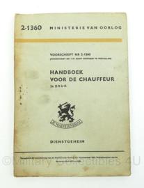 Handboek voor de chauffeur - ministerie van oorlog - uit 1954 - 2-1360 - origineel