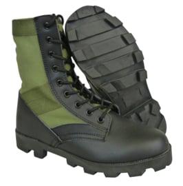 US Army  jungle boots  - groen / zwart - Size 6 = maat 40 - met Panama zool - nieuw gemaakt