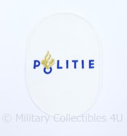 Nederlandse politie zeldzaam wit embleem - vroeg model - origineel