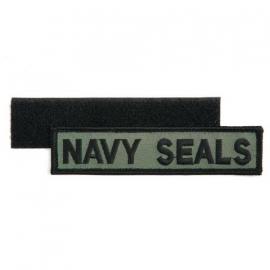 Navy Seals uniform borst naamlint stof - met klitteband - 13,4 x 3 cm.