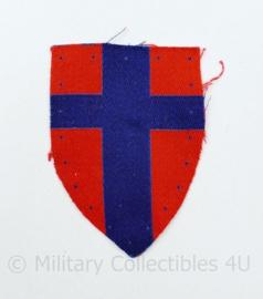 WW2 Canadian 21st Army Group GHQ and LFC troops patch gevormd -  7,5  x 5,5 cm - origineel