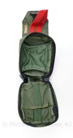 Nederlandse leger en Korps Mariniers GROENE profile Equipment geneeskundige MOLLE IFAK medische koppeltas - 17 x 12 x 8 cm - licht gebruikt - origineel