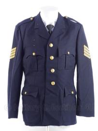"""Nederlandse leger brandweer uniform jas - rang """"onderbrandmeester"""" - maat 50 - origineel"""