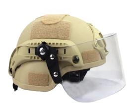 Helmvisier met bevestiging voor MICH FAST helm (zonder helm)