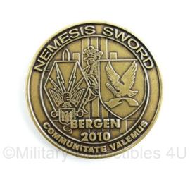 Headquarters 1 Nederlands Duitse Korps coin Operation Nemesis Sword Bergen 2010 - origineel