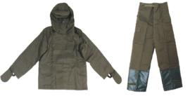 Leger NBC FOP 85 jas en broek - ongebruikt anti-gas pak - groen - maat 2, 3 of 4 - origineel