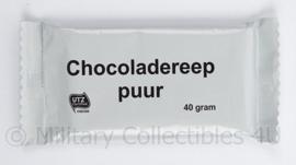 Nederlandse leger KL chocoladereep  Puur 40 gram.