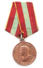 Russische medaille Patriotoc home defence medal  - origineel