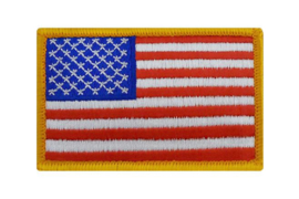 US Army Foliage flag patch full color - forward - met klittenband - 8,5 x 5 cm - origineel