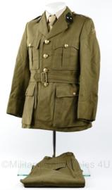 DKG en MVO zeldzaam lang model uniform jas met broek  Geneeskundige Troepen gedateerd 1950 - 1e Luitenant - maat 48 - origineel