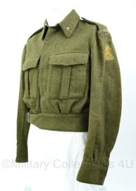 MVO battledress 1ste genietroepen met kraaginsignes Rang 2e luitenant - maat 46 - Origineel