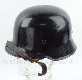 Duitse naoorlogse feuerwehrhelm  -  WO2 Polizei model  -  staal  -  origineel