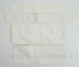 Antieke witte binnenkragen - set van 4 stuks - origineel