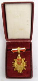 Poolse medaille in doosje - Zazagkug Dlawojew - 7 x 9 cm - origineel