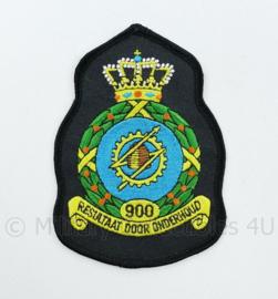 KLU Luchtmacht RNLAF 900 Squadron embleem -  resultaat door onderhoud - 11,5 x 8 cm - origineel