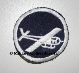 Overseas cap insigne - glider infantry - officieren - donkerblauw met wit