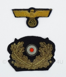 Kriegsmarine officiers pet insigne adelaar en kokarde - origineel WO2 Duits