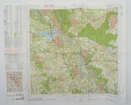 KL Nederlandse leger Topografische kaart 46 Gennep 1:50 000 - 72 x 57 cm - origineel