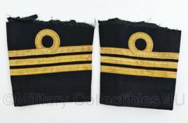 Koninklijke Marine vintage uiteindes van mouwen van het uniform - rang Kapitein Luitenant der zee  - origineel