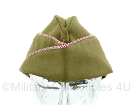 US Overseas cap Garrison cap Engineer - rood/witte bies - maat 57, 59 of 60 cm - luxe model