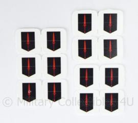 KCT Korps Commando Troepen plastic munten set van 14 stuks - origineel