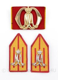 Defensie baret en kraag insigne set KMA Koninklijke Militaire Academie  - 3 delige set - origineel