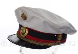 Oostenrijkse Bundessicherheitswachekorps pet met eenheid insigne - wit - maat 58 - Origineel