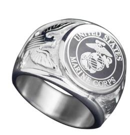 USMC US Marine Corps zilverkleurige ring - meerdere maten