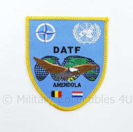 NATO VN Verenigde Naties DATF Amendola Nederland België embleem - 9,5 x 8 cm - origineel