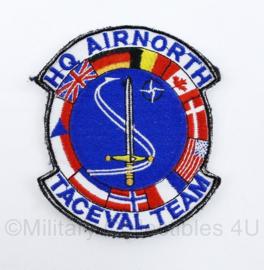 KLu Luchtmacht HQ Air North Taceval Team - met klittenband - 10 x 8 cm - origineel