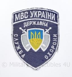 Oekraïense  Politie embleem Ukraine Ykpaiha MBC  - 9 x 12 cm - origineel