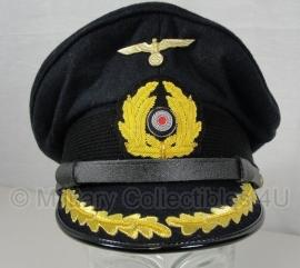 kriegsmarine schirmmutze - donkerblauw - kapitein - 57, 58, 59 of 60 cm.