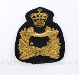 KLU Luchtmacht Officiers pet insigne metaaldraad - 8,5 x 7 cm - origineel