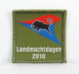 KL Landmacht borst embleem Landmachtdagen 2010 Gemechaniseerde brigade - met klittenband - afmeting 5 x 5 cm - origineel