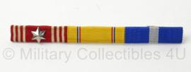 US Army medaillebalk van 3 medailles - afmeting 10,5 x 1 cm - origineel