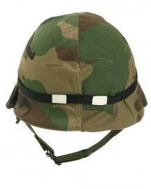 Helm overtrek elastische band met reflectie Helmet elastic band with cateyes - zwart