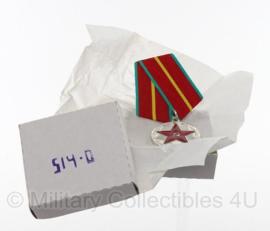 Russische medaille 20 jaar verdienste voor het Leger - ongebruikt in doosje!  - origineel