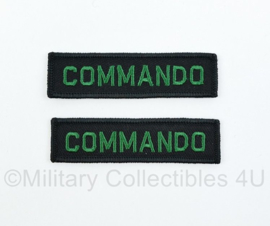 WO2 Nederlandse leger Commando straatnamen set - model 1950 tm. 1962 - 8 x 2 cm