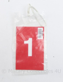 Defensie geneeskundige dienst Medical Assesment card set Gewondenkaart  - 22 x 12 cm - origineel